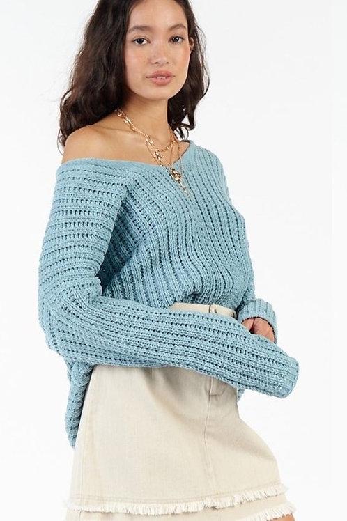 Sadie & Sage Teal Buzz Sweater