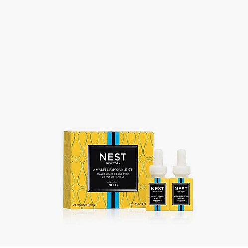 NEST Amalfi Lemon & Mint Refill Duo for Pura Smart Home Fragrance Diffuser