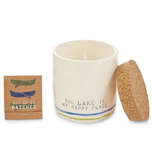 mudpie HAPPY PLACE Candle