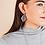 Thumbnail: Natalie Wood Designs - Believer Small Drop Earrings SILVER