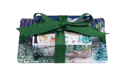 MICHEL DESIGN Christmas Snow Gift Soap Set