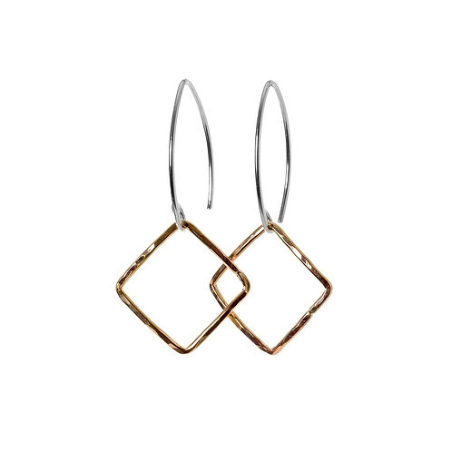 Kenda Kist TWO TONED Small Square Earrings