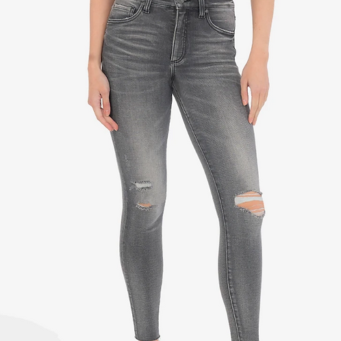 KUT CONNIE HIGH RISE FAB AB SLIM FIT ANKLE SKINNY (ECO FRIENDLY, ACT WASH)
