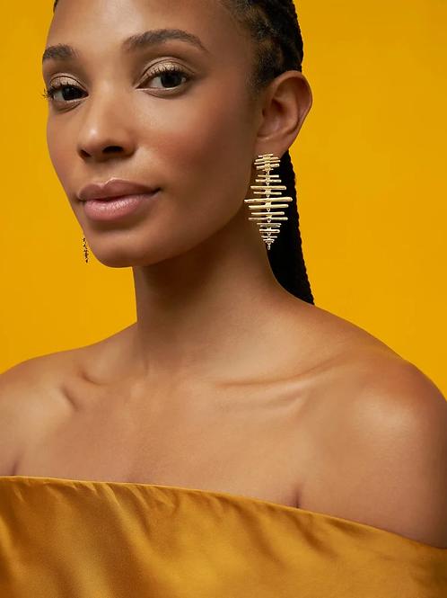 Kendra Scott Rylan Statement Earrings In Gold