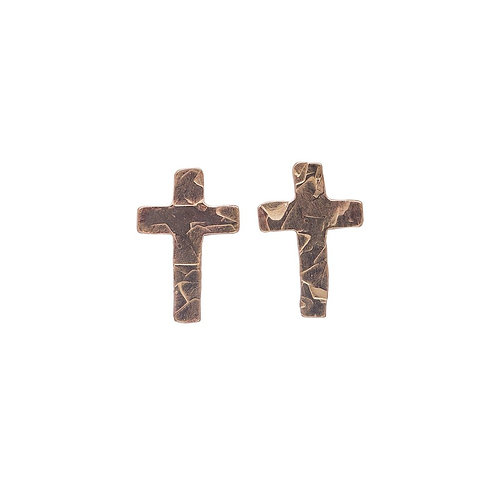 Kenda Kist GOLD Tiny Cross Studs