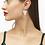 Thumbnail: KENDRA SCOTT Ansley Heart Gold Drop Earrings In Ivory Mother-Of-Pearl