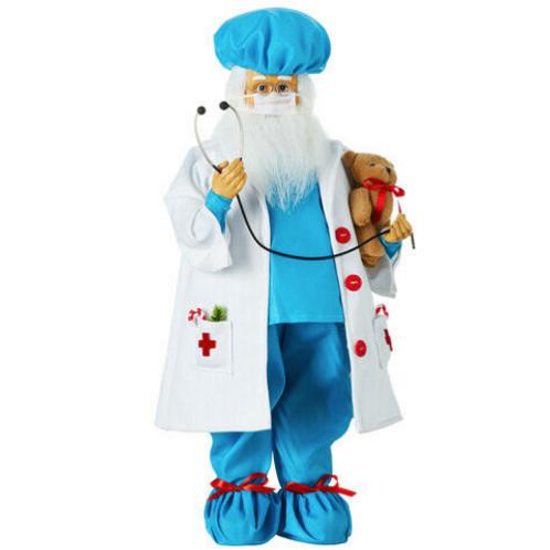 "RAZ Imports Santa Claus Dr Doctor healthcare heros 18"""