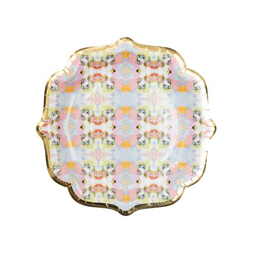 Laura Park Designs BROOKS AVENUE PINK COCKTAIL PLATES