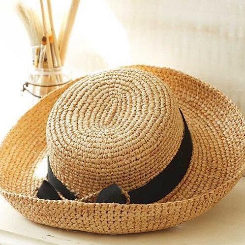 2 chic Morning Glory Rafia Gardener's Hat
