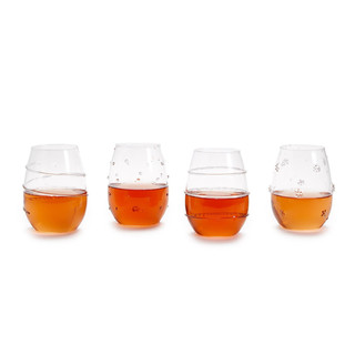 TWO'S CO VERRE STEMLESS INDIVIDUAL GLASSES