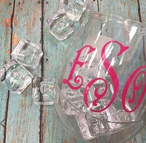 Acrylic Stemless Wine Glasses