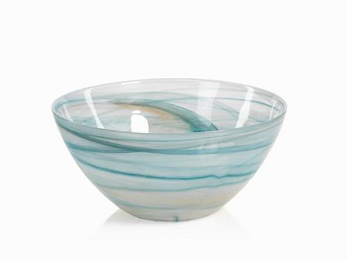 ZODAX LG Lagoon Alabaster Glass Bowl