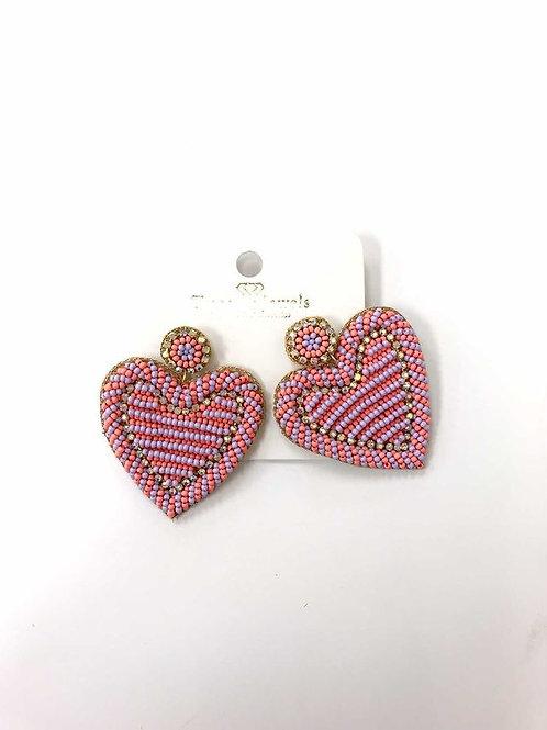 Treasure Jewels Amoure pink Heart Earring