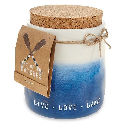 mudpie LIVE LOVE LAKE Candle