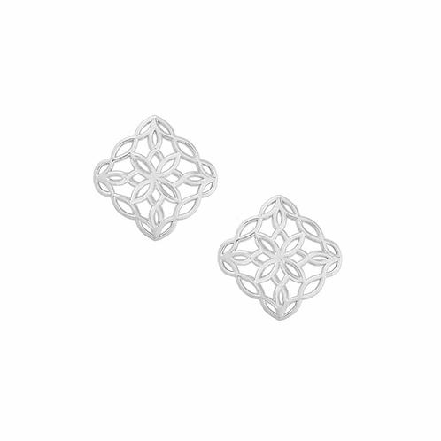 Natalie Wood Designs - Bloom Stud Earrings SILVER