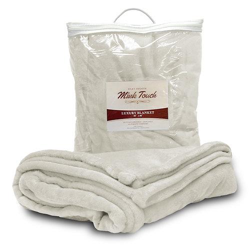 Mink Touch Luxury Blanket-Ivory