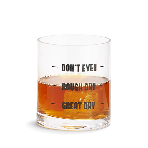 "Two's Company ""DON'T EVEN"" Double Old Fashioned Glass"