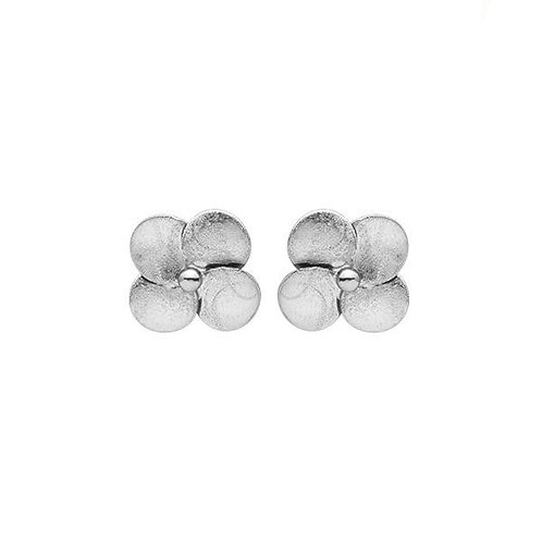 Sheila Fajl Flower Stud in Brushed Silver