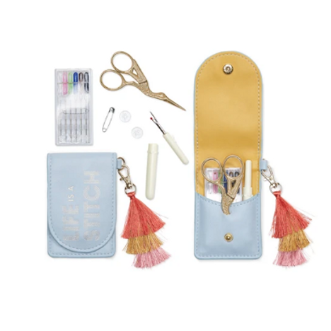 DESIGN WORKS INC VEGAN LEATHER SEWING KIT - LIFE IS A STITCH