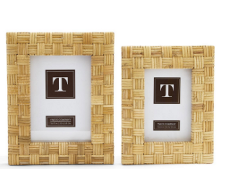 TWO'S COMPANY 5X7 RATTAN FRAME