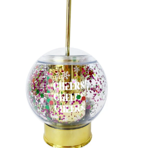 Packed Party CHEERS Snow Globe Sipper