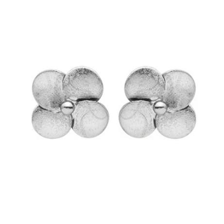 SHEILA FAJL Flower Stud Earrings in SILVER