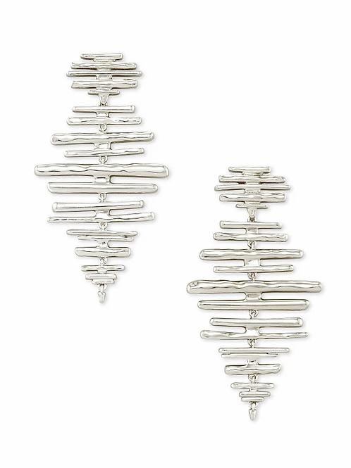 Kendra Scott Rylan Statement Earrings In Silver