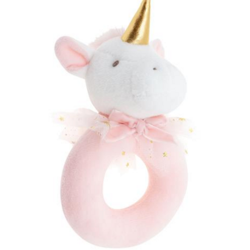 Stephen Joseph Baby Ring Rattle Unicorn