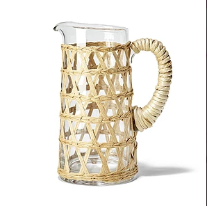Two's Company Rattan Pitcher
