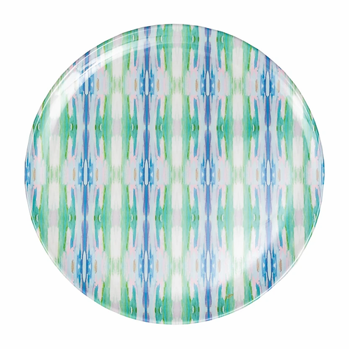 Laura Park Designs FLOWER CHILD TEAL MELAMINE PLATE