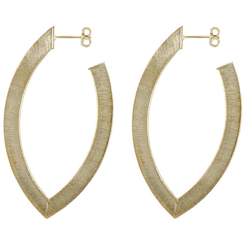 Sheila Fajl Small Alba Hoops in Brushed GOLD