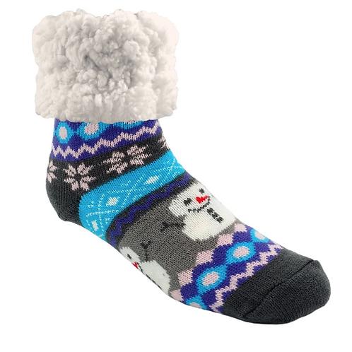 Classic pudus Slipper Socks - Winter Snowman