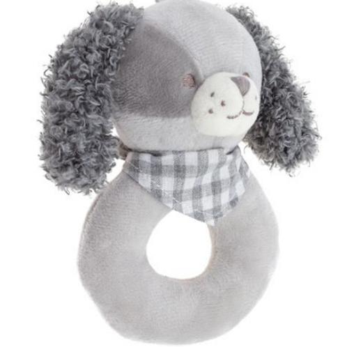 Stephen Joseph Baby Ring Rattle Puppy Dog