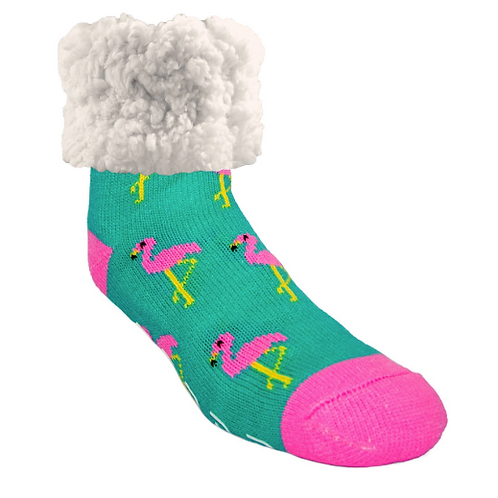 Classic pudus Slipper Socks - PINK Flamingo