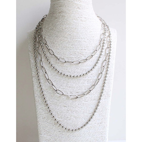 Meghan Browne Style Alicia Silver Necklace