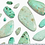 Thumbnail: Ivy Gold Ring Set Of 3 In Sea Green Mix