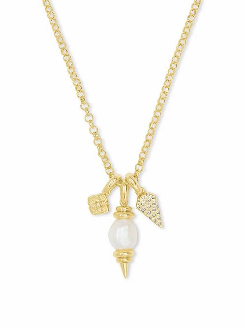 Kendra Scott Demi Charm Pearl Necklace