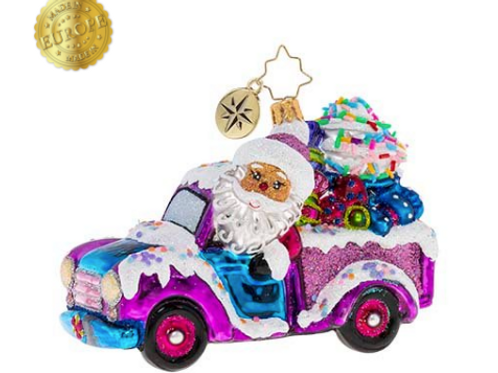 Radko Sweets By The Truckload Ornament