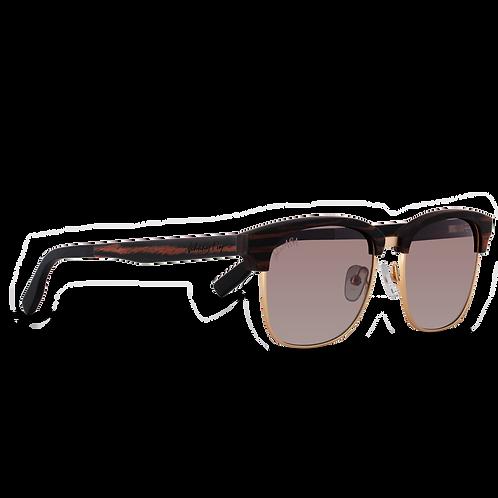 Johnny Fly Co. Sunglasses HUGHES  in Ebony Wood & Gold