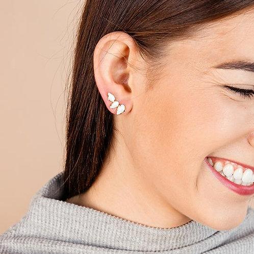 Natalie Wood Designs - Daydreamer Stud Earrings WHITE PEARL