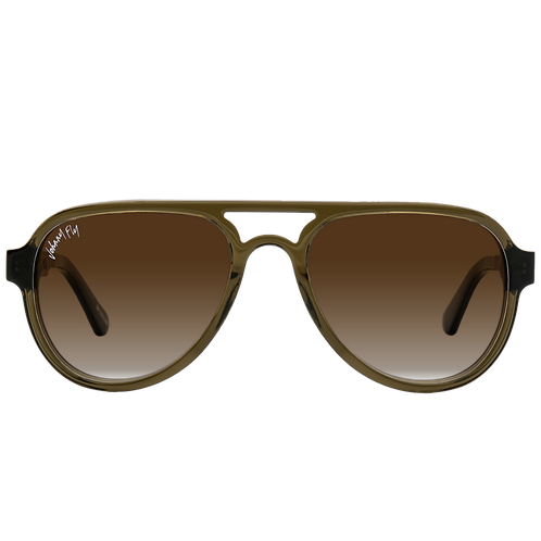 Johnny Fly Co. Sunglasses APACHE  in Olive & Walnut
