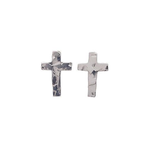 Kenda Kist SILVER Tiny Cross Studs