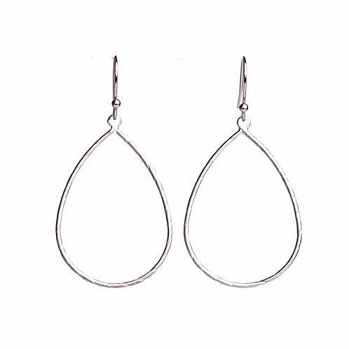 Meghan Browne Teal Silver Earring