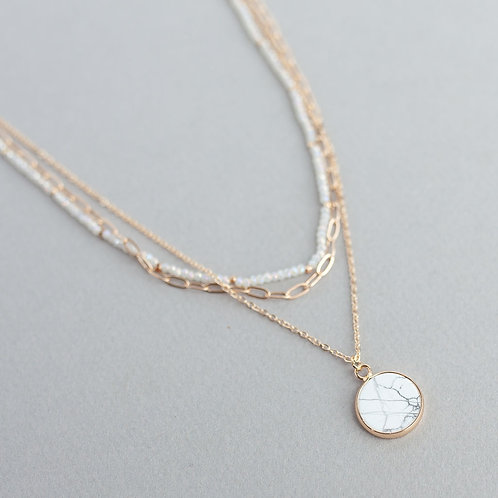 Meghan Browne Style Cruise Howlite Necklace