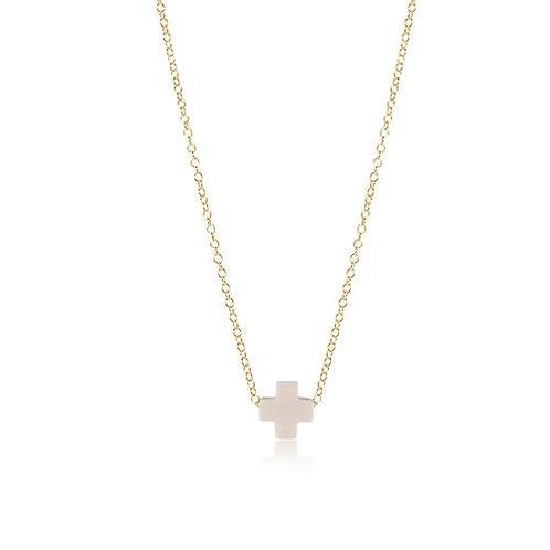 "enewton - 16"" Signature Cross Necklace OFF-WHITE"