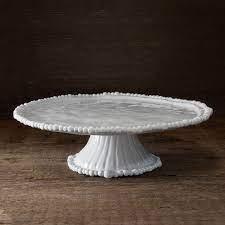 Beatriz Ball Alegria Melamine White Pedestal Cake Plate