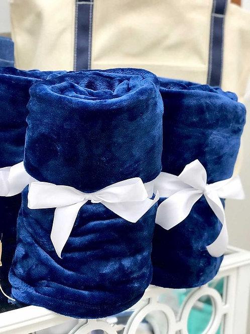 Mink Touch Luxury Blanket-Navy