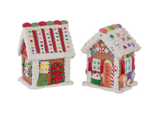 """RAZ Imports 5.5"""" Candy Lighted Gingerbread House"""
