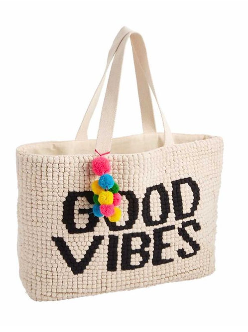 Mudpie GOOD VIBES SUMMER TOTE BAG