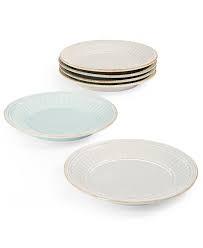 Lenox French Perle Groove Dessert Plates